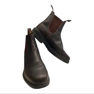 Blundstone brown leather boots w8